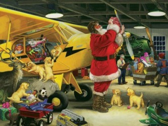 Santa Prepares for Flight Puzzle