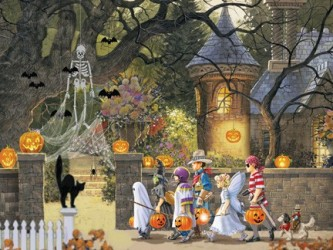 halloween friends puzzle