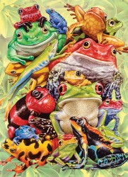 Frog Pile Family Puzzle