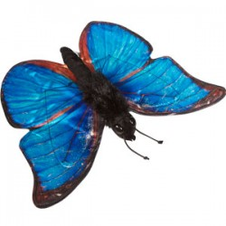 Blue Morpho Butterfly Puppet (Large)