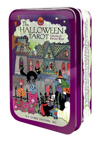 The Halloween Tarot in a Tin