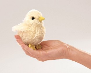 Folkmanis Fuzzy Chick Finger Puppet