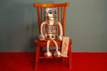Robot Mini Finger Puppet