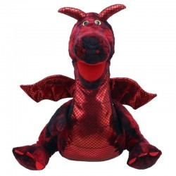 Large Red Dragon Puppet